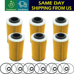 6 Pc For Sea-doo 4-tec Oil Filter And O-ring Kit Gti Gts Gtx Rxt Rxt -x 130-260 Hp