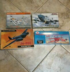 Wwi Wwii 1/48 Eduard Hasegawa Hobby Craft Guillows Lot Of 4 Model Kits Airplanes