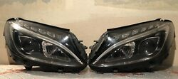 W205 C Class LED headlights pair with control modules A2059063803  A2059063703