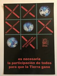 Original Cuban OSPAAAL political Poster.World Climate change.Spanish ecological
