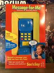 Vintage Mattel See N Say Phone Message For Me 1994 Nib Rare Warehouse Find