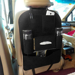 New Black Auto Car Seat Back Multi Pocket Storage Bag Organizer Holder Accessory