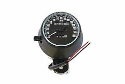Speedometer Black Plastic Style 21 For Harley Davidson By V-twin