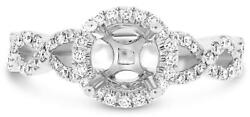 .49ct Diamond 14kt White Gold 3d Round Infinity Halo Semi Mount Engagement Ring