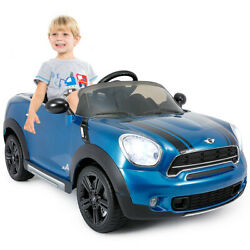 12V Electric Mini Countryman Licensed Kids Ride On Car Blue for Christmas Gift