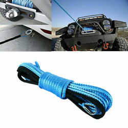 1/4 X 50and039 Synthetic Winch Rope Line Cable Rope With Sheath Atv Utv 7700lbs New