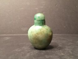 Antique Chinese Green Jade Feicui Snuff Bottle, 19th Century