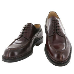 8000 Silvano Lattanzi Burgundy Red Leather Derby Shoes 11 E/10 Ee 592