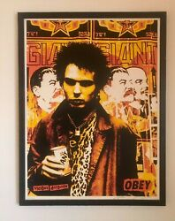 Shepard Fairey, Obey Sid Vicious Red Print, Signed 18x24, Sex Pistols