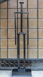 Medieval Epic Wooden Display Stand For Suit Of Armor - Black Halloween Costume