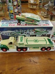Hess 2002 Hess Toy Truck And Airplane Mint In The Box And Bag