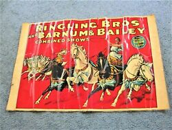 Ringling Bros. And Barnum And Bailey Combined Shows Circus Poster- Vintage Repro.