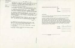 1983 Chuck Norris Signed Appearance Contract To Promote Lone Wolf Mcquade