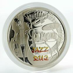 Armenia 1000 Dram Jazz Instruments And Notes Silver Coin 2010