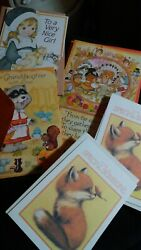 Vintage American Greetings Lot Of 5 Various All Thanksgiving Cards.