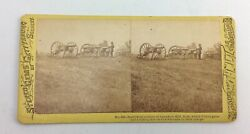 Antique Stereoview Tipton Stereo Gems Of Gettysburg Scenery Cemetery Hill Cannon