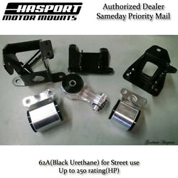 Hasport Mounts Stock Replacement Mount Kit For 2006-2011 Civic Non-si Fg1stk-62a