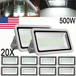 20X 500W Cool White LED Flood Light Outdoor Security Spotlight Work Lamp AC110V