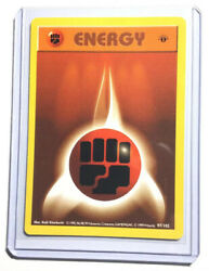 Nm 1st Edition Shadowless Pokemon Fighting Energy Card Base Set 97/102 First Ed.