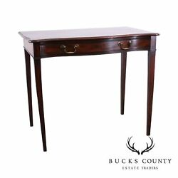 Federal Period Antique 1820and039s Mahogany Serpentine One Drawer Console Table