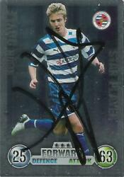 Topps Match Attax Trade Card Featuring And Signed By Kevin Doyle Of Reading.