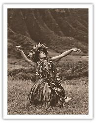 Dance To Pele - Hawaiian Hula - Alan Houghton 1960s Vintage Photograph Art Print