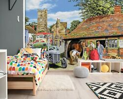 3d Tractor Horse A42 Wallpaper Wall Mural Self-adhesive Trevor Mitchell Zoe