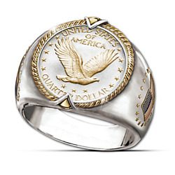Eagle Two Tune 925 Silver Ring Women Men Wedding Party Jewelry Gift Size 6-13