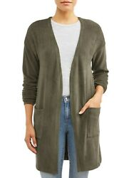 Sofia Jeans Evil Eye Embroidered Duster Cardigan Women's Size L