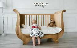Baby Cot Oak Cot Certified Cot Bed Handcrafted Cot Bed Toddler Bed