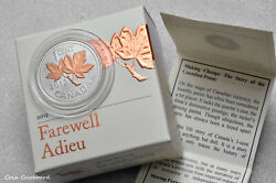 2012 - Canada 1 Cent, Fairwell To The Penny 1/2 Oz .999 Silver Coin W/ All Omp