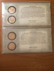 Set Of 2 Jfk Presidential Dollar Coin Set Us Mint Collectible Nice Coins