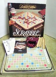 Scrabble Vintage 1989 Deluxe Edition Turntable Crossword Game