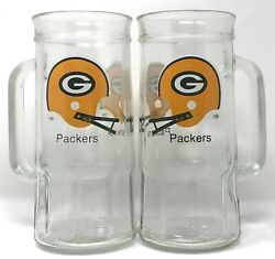 Vintage Green Bay Packers Fisher Nut Mugs Two Bar Helmet Face Mask