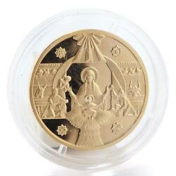 Ukraine 50 Hryvnas 2000 Years Of Christmas Mother Of God Gold Coin 1999
