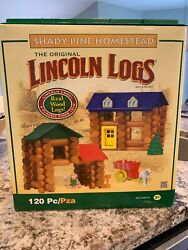 Lincoln Logs Shady Pine Homestead Play Building Set Classic Wood 120 Pieces 3+