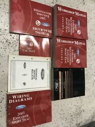 2007 FORD Explorer & Sport Trac Mountaineer Service Shop Manual Set W EWD + More