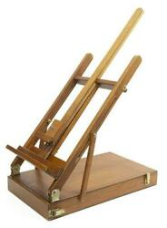 Vintage Easel, Folding Tabletop Artist's, Sturdy, Wooden, For Displays, 20th C.