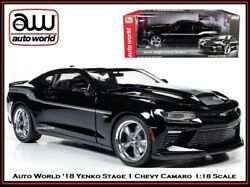 Auto World New Collectible And03918 Chevy Camaro Coupe Yenko 118 Scale Diecast Car