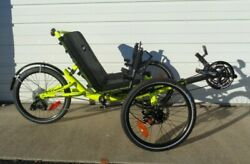 Catrike Villager Recumbent 3-Wheeler Bike Ridden 5 miles Yellow
