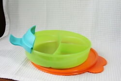 Tupperware Kids New Childrenand039s Divided Dish W/ 3 Sections And Seal And Handel