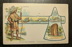 1906 First American Jamestown Exposition Richmond To Worcester Ma Postcard Cover