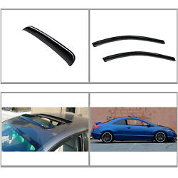 Front Vent Shade Window Visors Sun/moon Roof Fit 06-11 Honda Civic 2dr Coupe 3pc