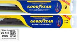 Goodyear Assurance Weatherready Wiper Blades 2 Front Blades Fits 15-19 Acura Tlx