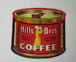 Vintage Hills Brothers Coffee Can Advertising Paper Decal Rare Nos