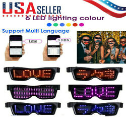 LED Glasses Bluetooth Control Programmable EL Frame Lights Dance Party Nightclub $16.99