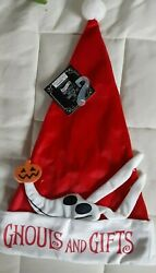 Nightmare Before Christmas 25 Years Santa Hat Ghouls And Gifts New w Tags