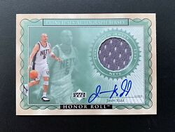 2002-03 Upper Deck Jason Kidd Honor Roll Principals Game Jersey Auto Signed Sp