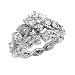 1.6ct Genuine Round Diamond 10k Gold Engagement Ring For Women Solitaire J Si2