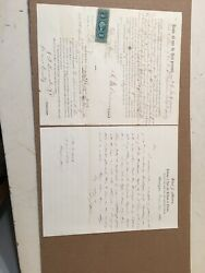 Antique Tennessee Civil War Soldiers Documents F M Anderson Fifty Cent Stamp